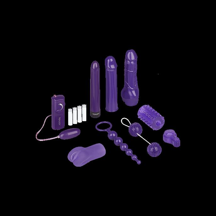 TOYJOY 'Mega Purple Sex Toy Kit', 9 Teile