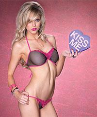 Sexy Netz-Bikini mit Spitze, 2teilig