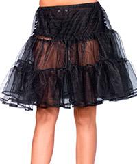 Knielanger, transparenter Petticoat