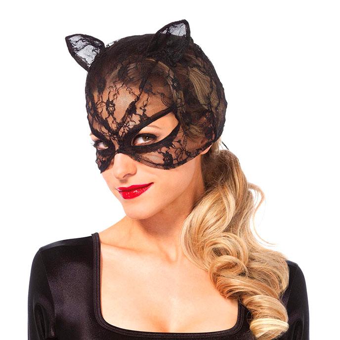 Leg Avenue Katzenmaske aus zartem Netz