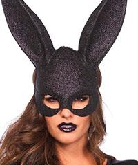 Glitzernde Hasenohr-Maske