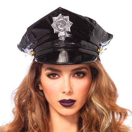 Polizeihut aus Vinyl