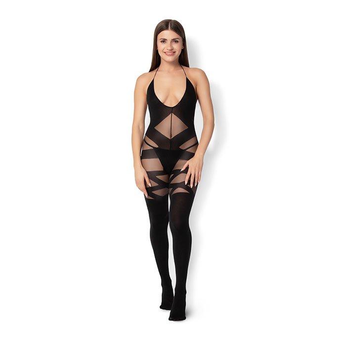 Leg Avenue 'Opaque and Sheer Bodystocking'
