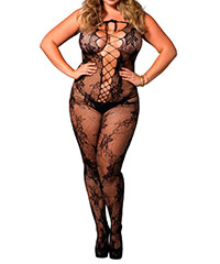 Sinnlicher Bodystocking in Schnür-Optik