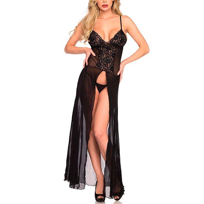 Sexy Maxi-Kleid, 2Teile