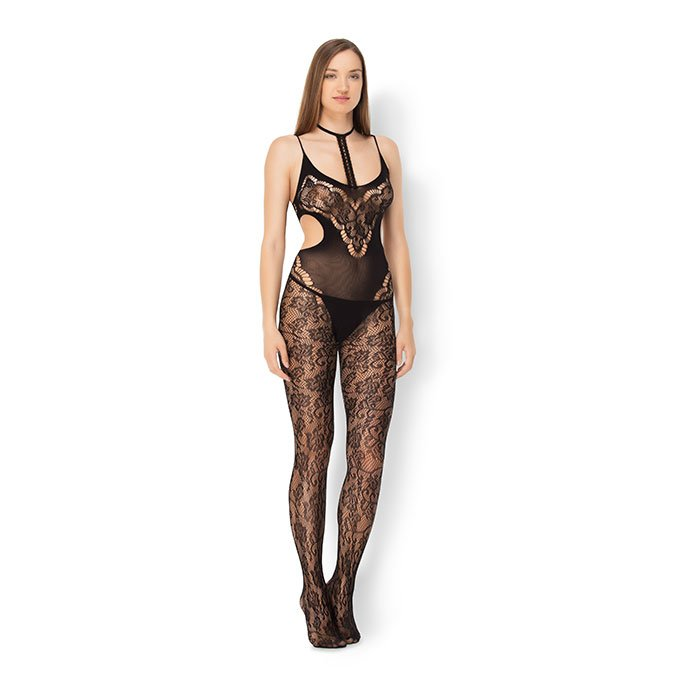 Leg Avenue 'Halter Lace Bodystocking'
