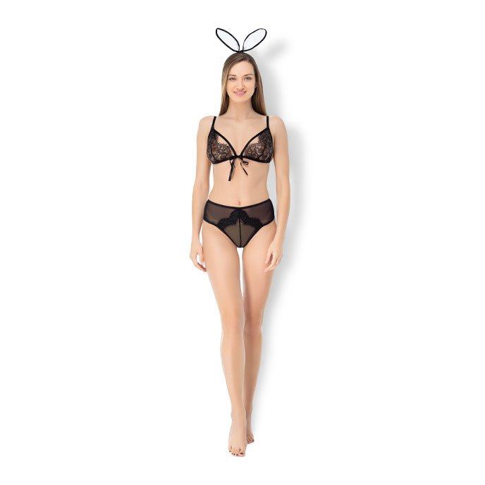 Leg Avenue 'Roleplay Bedroom Bunny', 3 Teile, Gr. S-L