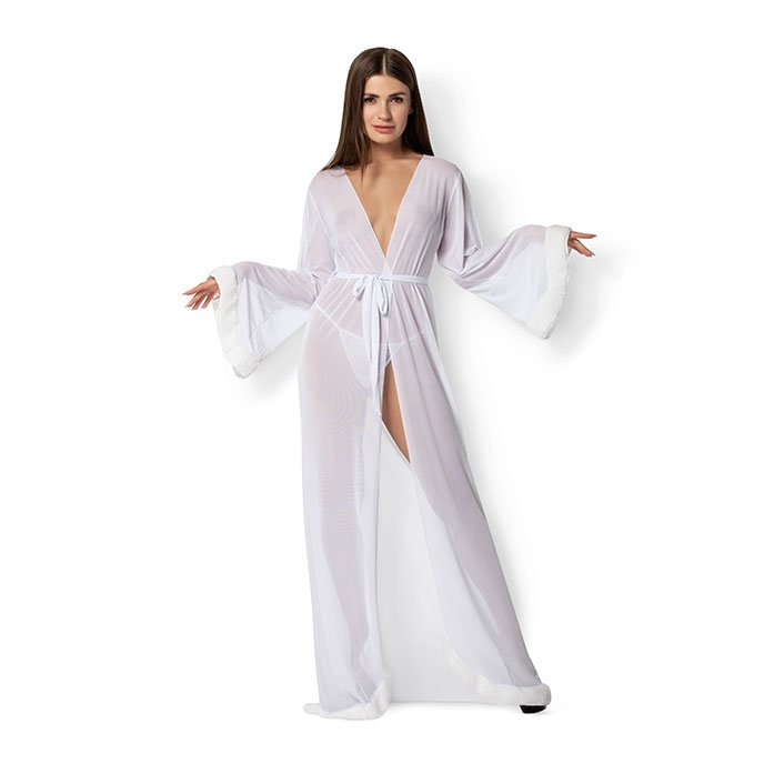 Leg Avenue 'Fur Trimmed Robe', 3 Teile, Gr. S-L