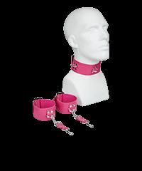 Sinnliches Halsband mit abnehmbaren Fesseln, 2tlg.
