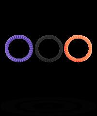 'Neon Stimu Ring Set', 3teilig, 3,76,7cm