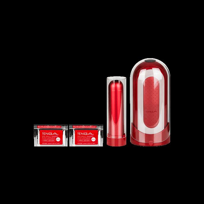Tenga 'Tenga Flip Zero Red & Warmer Set', 20,6 cm