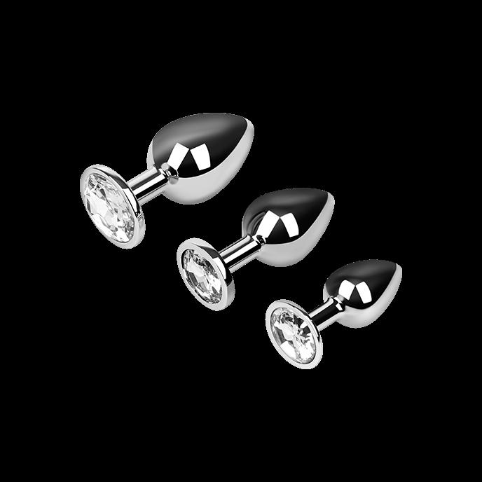 EIS Analplug-Set aus Aluminium, 7 - 9,5 cm