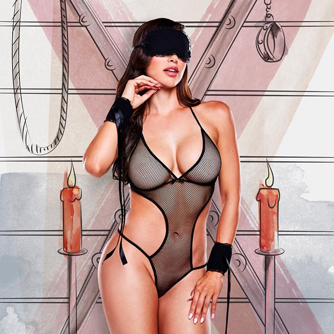 Baci Lingerie Sexy Lustsklavin - Kostüm', 3 Teile