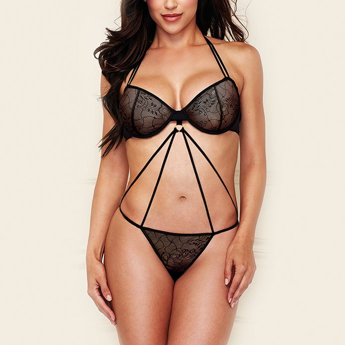 Baci Lingerie 'Criss Cross Lace Teddy'