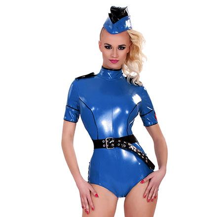 Sexy Polizei-Body, 3Teile