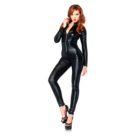 Wet Look-Catsuit