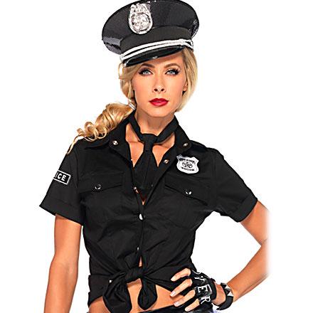Sexy Polizeihemd und Krawatte, 2Teile