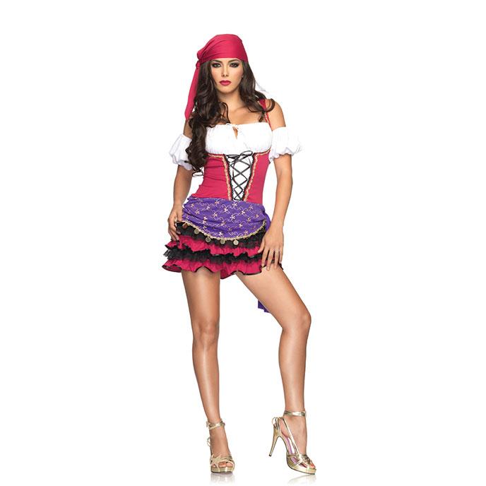 Leg Avenue Gipsy-Kostüm mit Haaraccessoire, 2 Teile