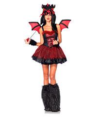 Drachen-Kostüm mit Flügeln, 4teilig