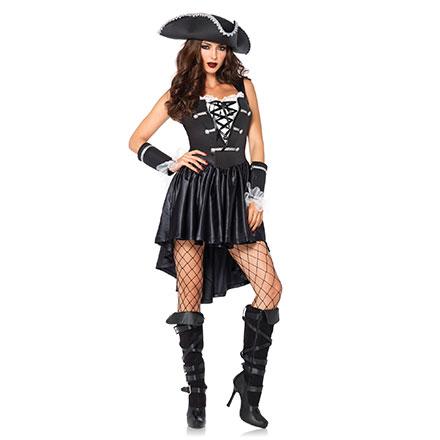 Verruchtes Piratinnen-Kleid, 3Teile