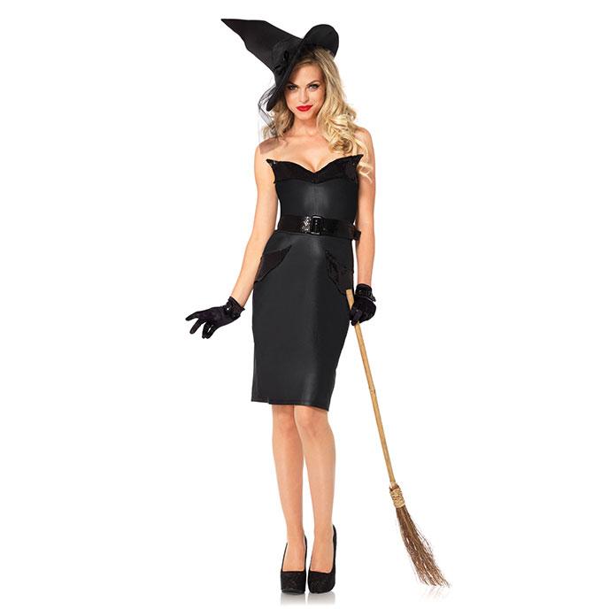 Klassisches Hexen-Kostüm, 4teilig