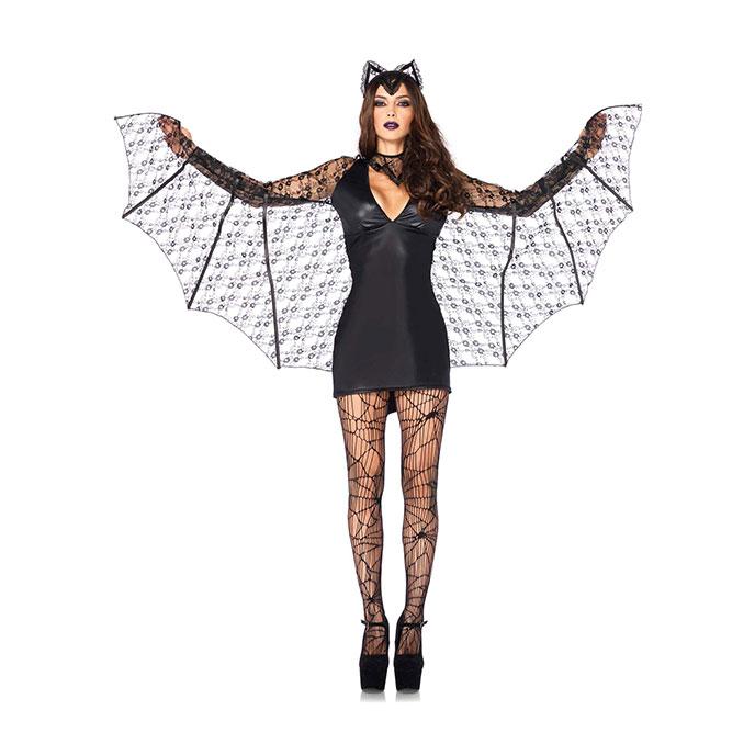 Leg Avenue Sexy Fledermaus-Kostüm, 4 Teile