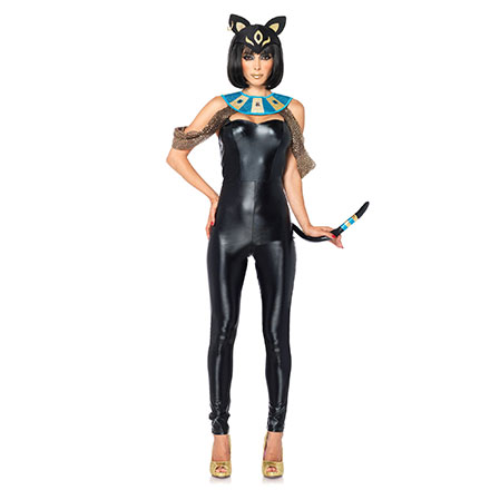 Sexy Katzengöttinnen-Kostüm, 3Teile