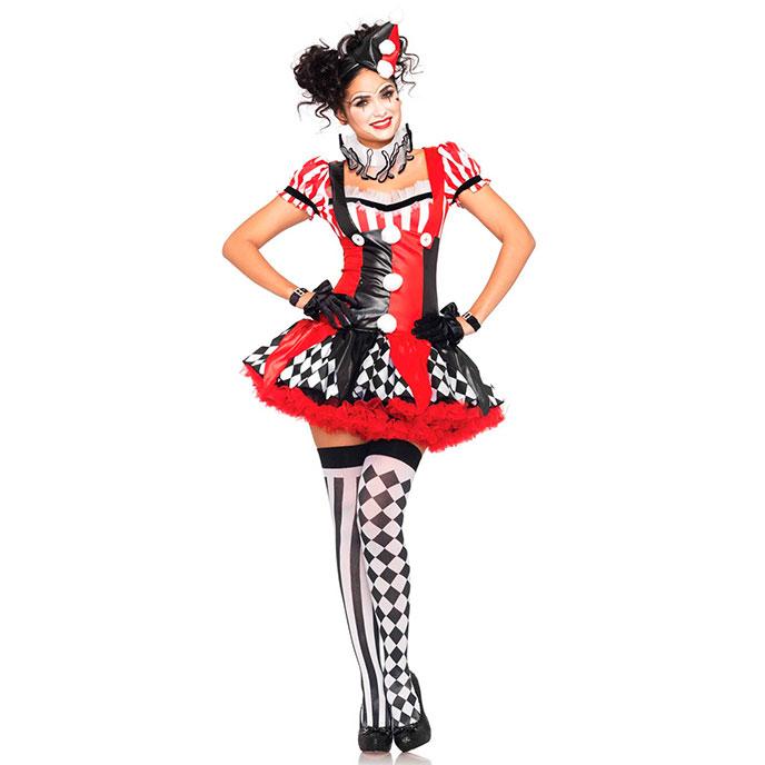 Leg Avenue 'Harlequin Clown', 3 Teile