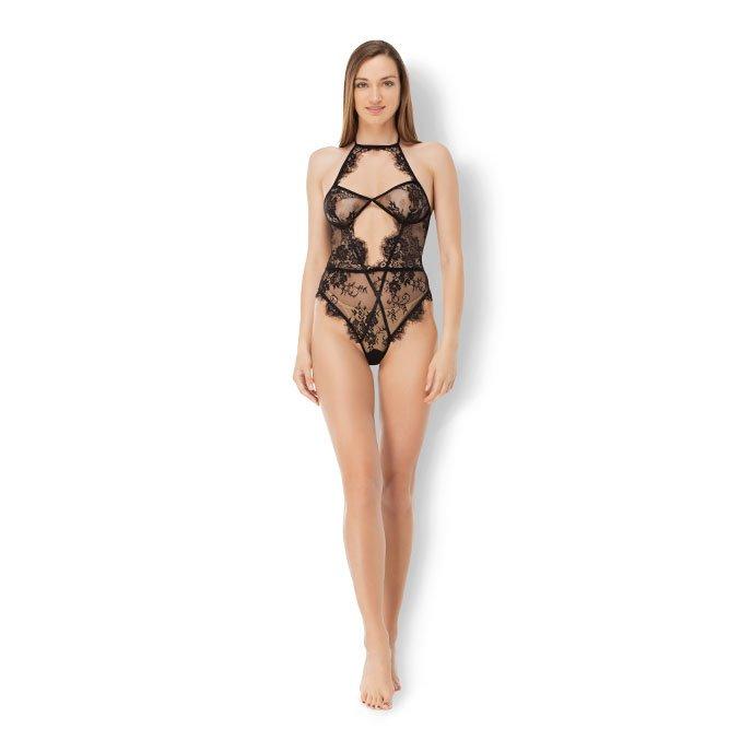 Leg Avenue 'Eyelash Lace Bodysuit', Gr. M
