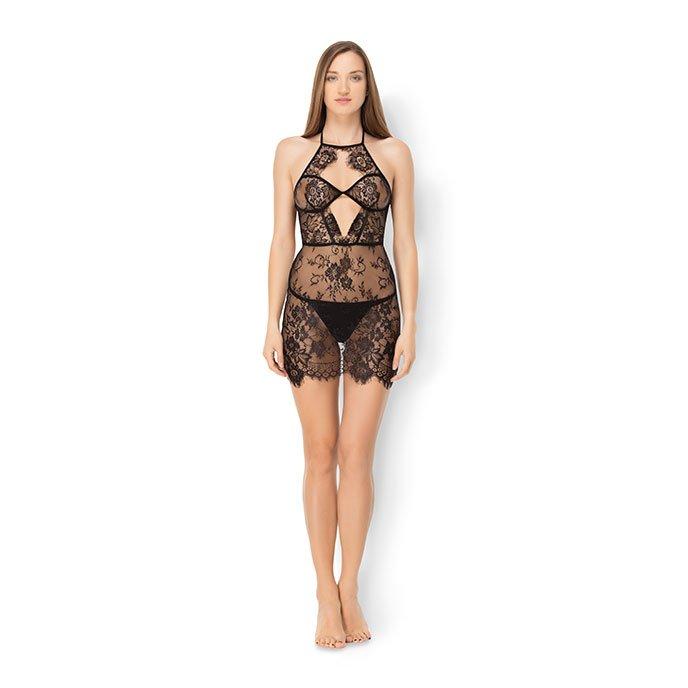 Leg Avenue 'Eyelash Lace Dress', 2 Teile