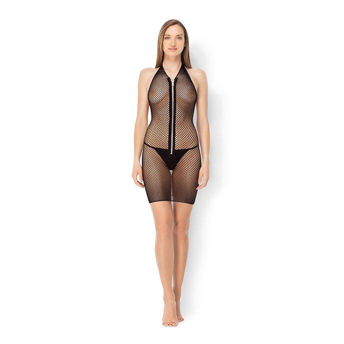 Leg Avenue 'Fishnet Zipper Dress', Gr. XL-XXL