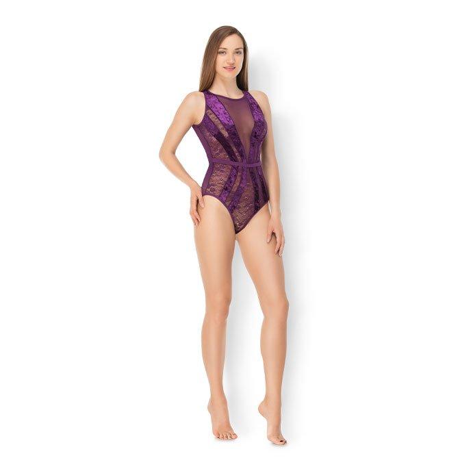 Leg Avenue 'Velvet & Lace Bodysuit', Gr. S