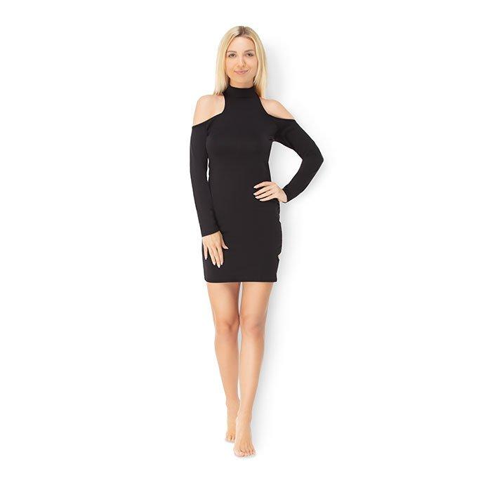 Leg Avenue 'Long Sleeved Cold Shoulder Mini Dress', Gr. M