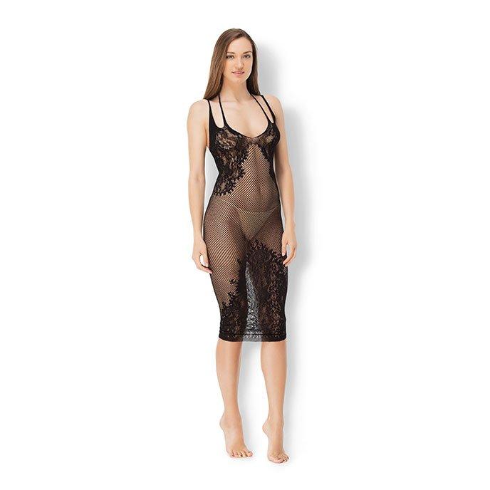 Leg Avenue 'Lattice Bodycon Dress', Gr. S-L