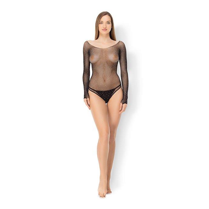 Leg Avenue 'Crystalized Fishnet Bodysuit', Gr. XL-XXL