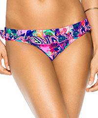 Knalliger Bikini-Slip mit Rüschen