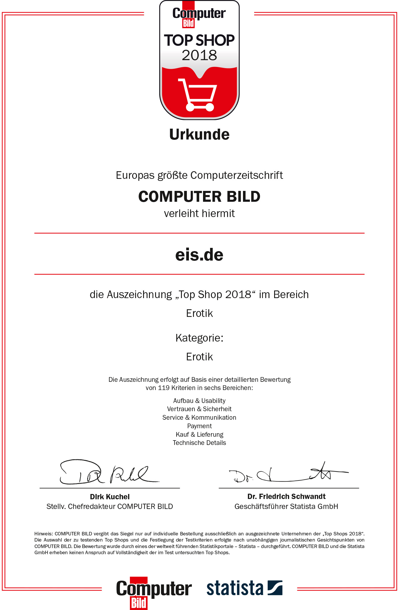 Zertifikat Computerbild