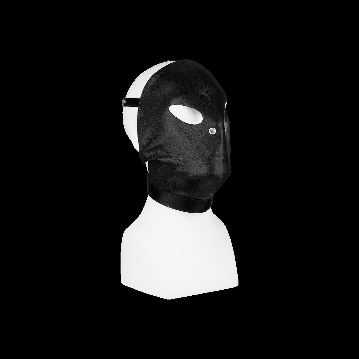 Rimba Leder-Kopfmaske mit Schnallen, schwarz jetztbilligerkaufen