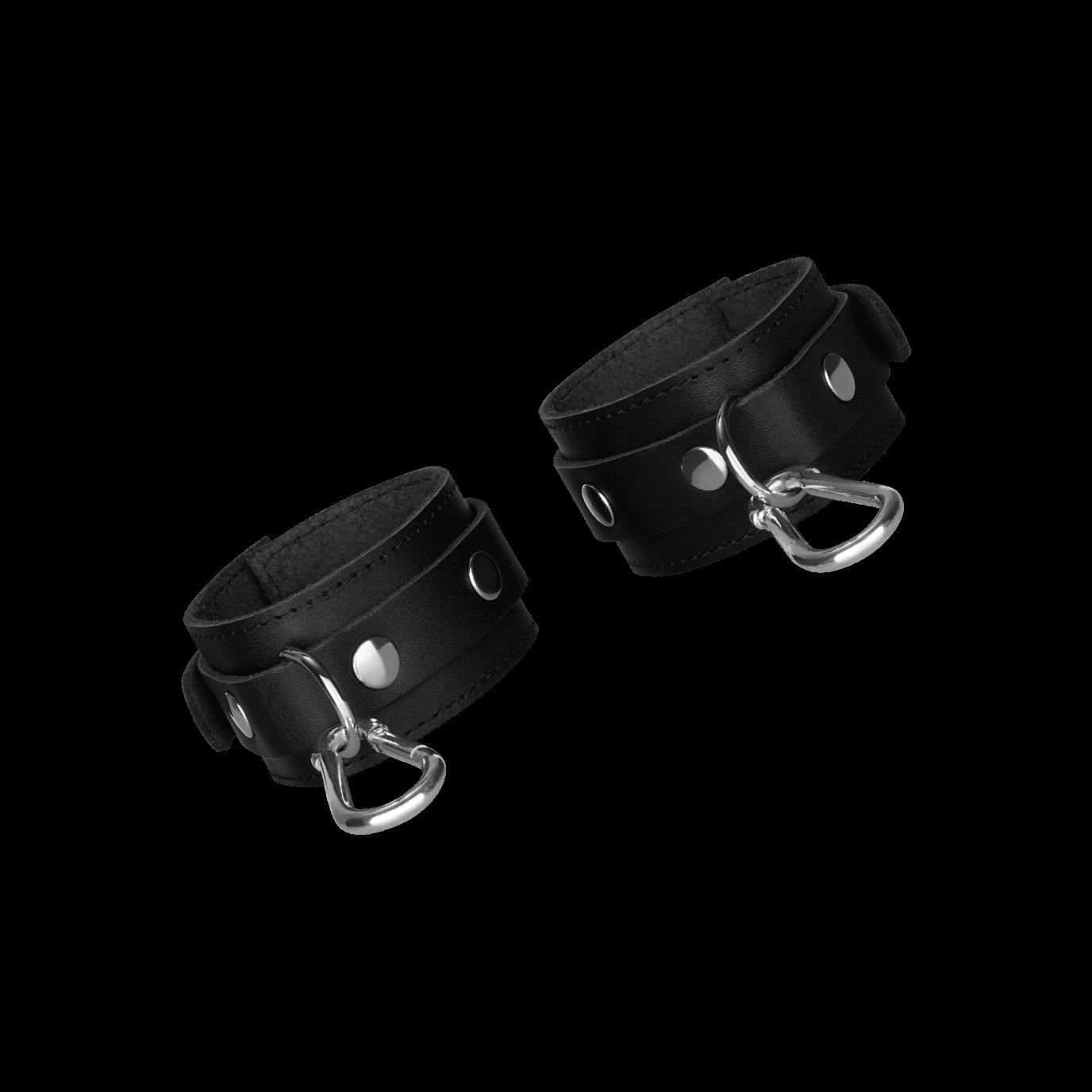 Rimba Leder-Handfesseln, schwarz jetztbilligerkaufen