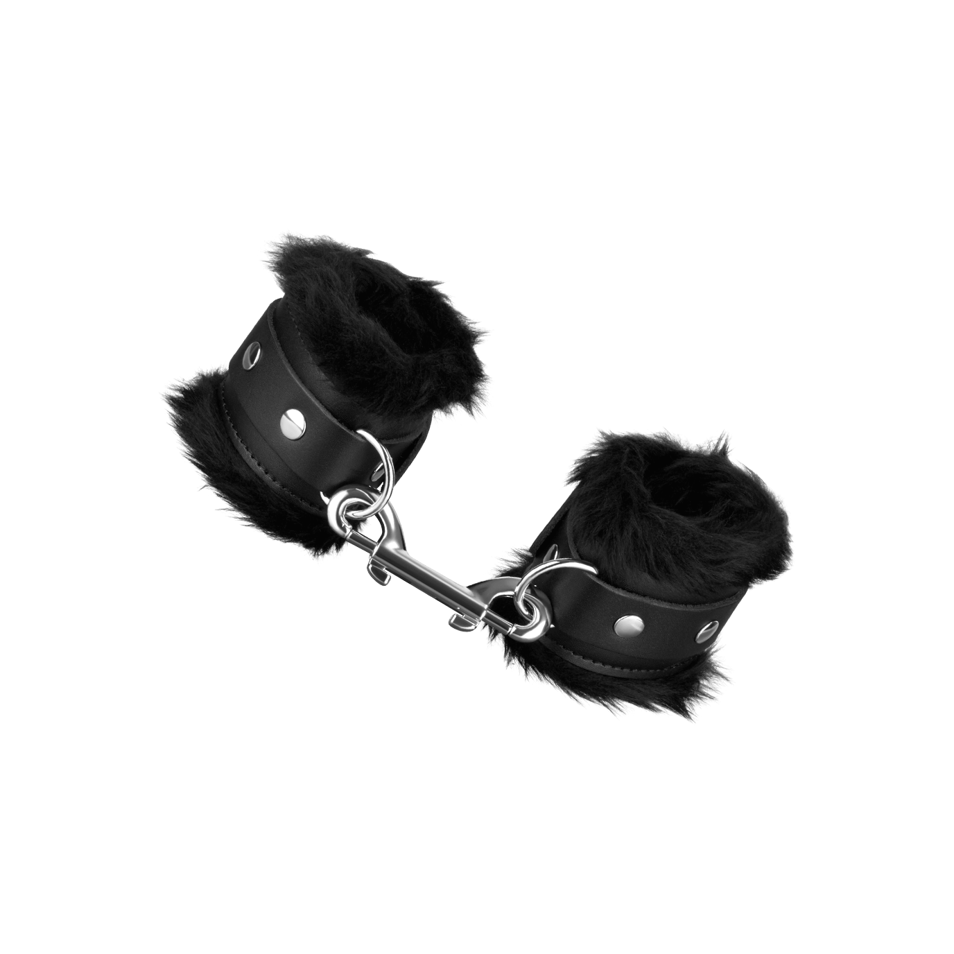 Rimba Leder-Handfesseln mit Plüsch, schwarz jetztbilligerkaufen