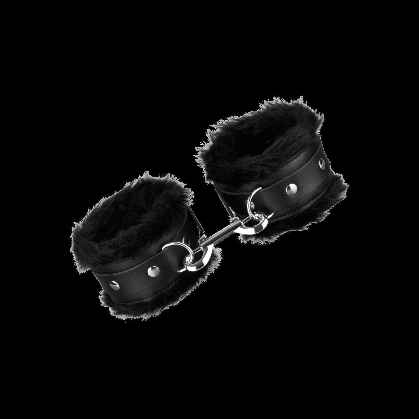 Rimba Leder-Fußfesseln mit Plüsch, schwarz jetztbilligerkaufen