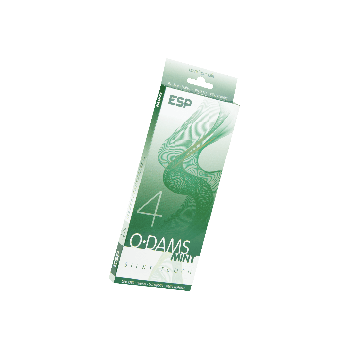 ESP O Dams Mint Silky Touch: Latextücher, 4er Pack - broschei